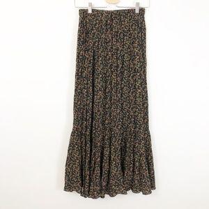 Vintage Saddle Ridge Western Maxi Floral Skirt, M